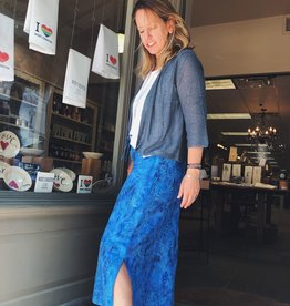 Wind River Island Batik Long Skirt with Slit