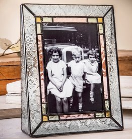 J Devlin Vintage Stained Glass  Vertical Frame