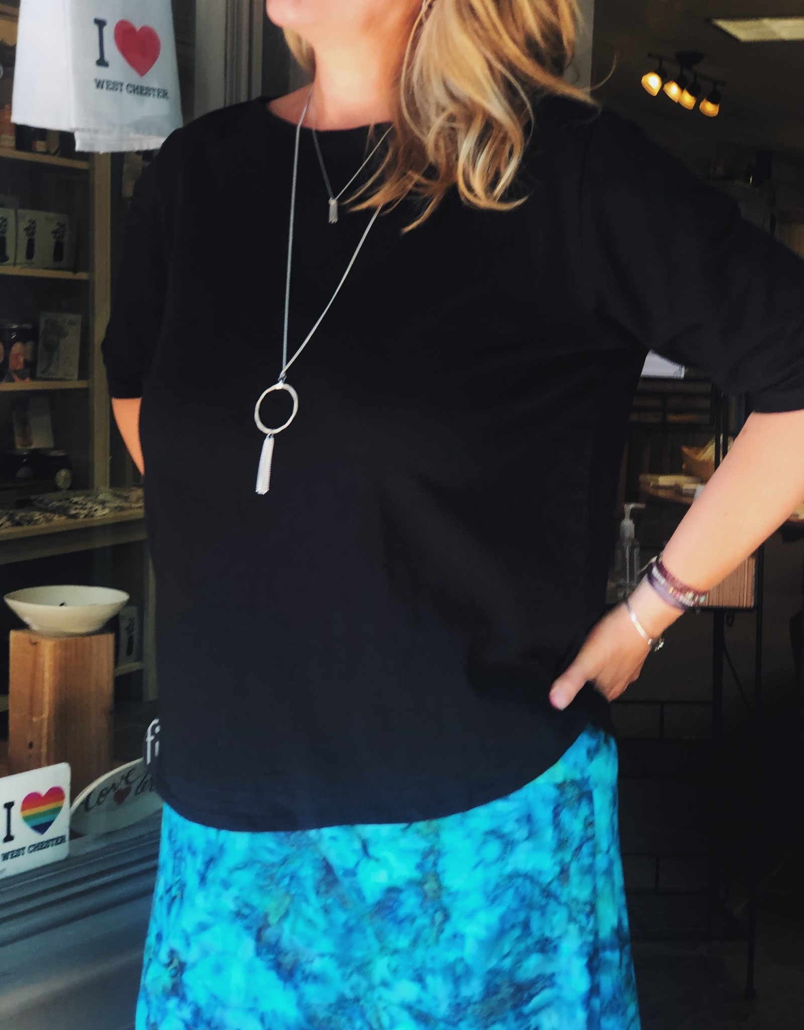 Wind River Boatneck 'Half' Sleeve Tee