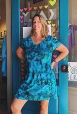 Wind River Tie Dye V-neck Short Dress