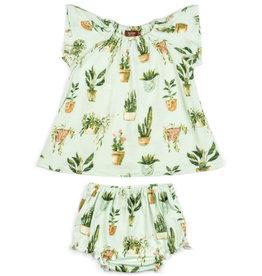 Milkbarn Bamboo Dress & Bloomer Set