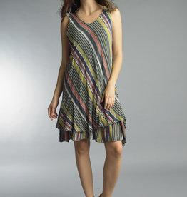 Tempo Paris Striped Linen Dress