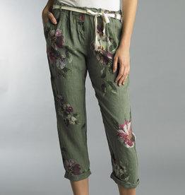 Tempo Paris Floral Linen Pants