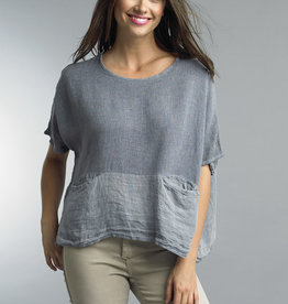 Tempo Paris Linen Tunic with Pockets