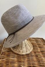 Cotton Blend Fedora Hat with Tie