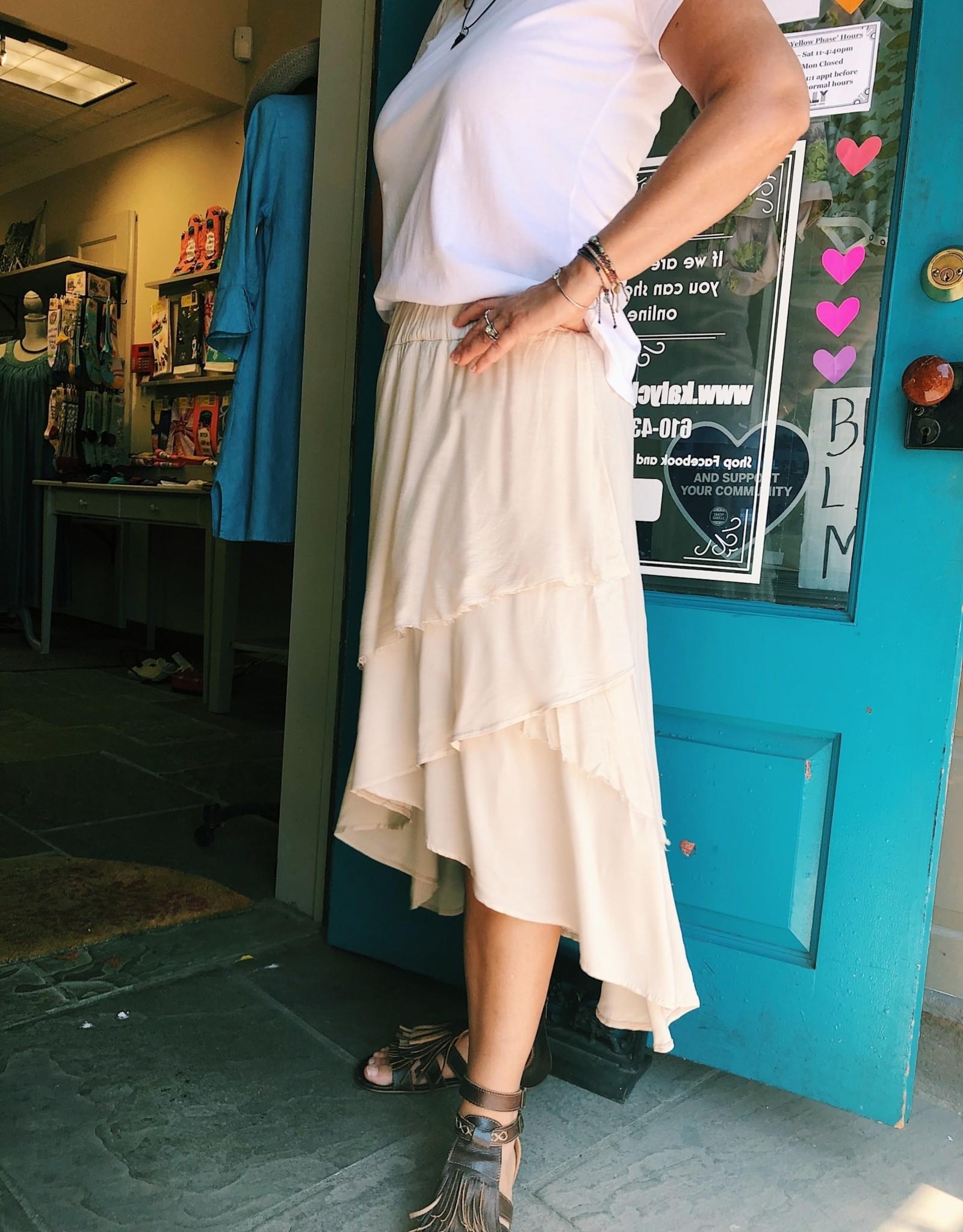 Tempo Paris Tiered Viscose Skirt