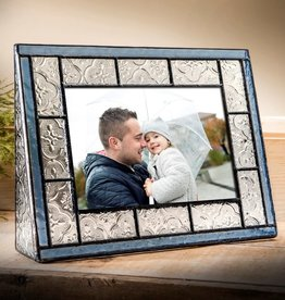 J Devlin Medium Blue Glass Horizontal Frame