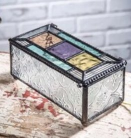 J Devlin Multi-colored Glass Jewelry Box
