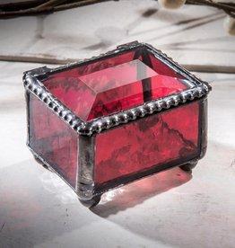 J Devlin Red Mini Glass Box