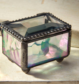J Devlin Iridescent Mini Glass Box