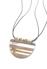 Fair Anita Wooden Stripe Necklace