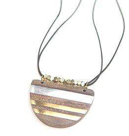 Fair Anita Wooden Stripe Necklace