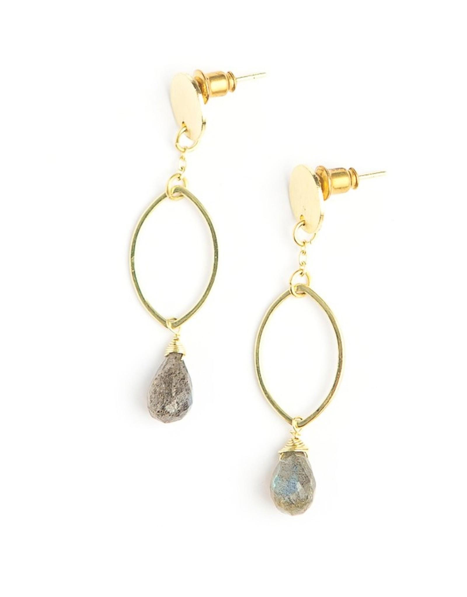 Fair Anita Labradorite Earrings