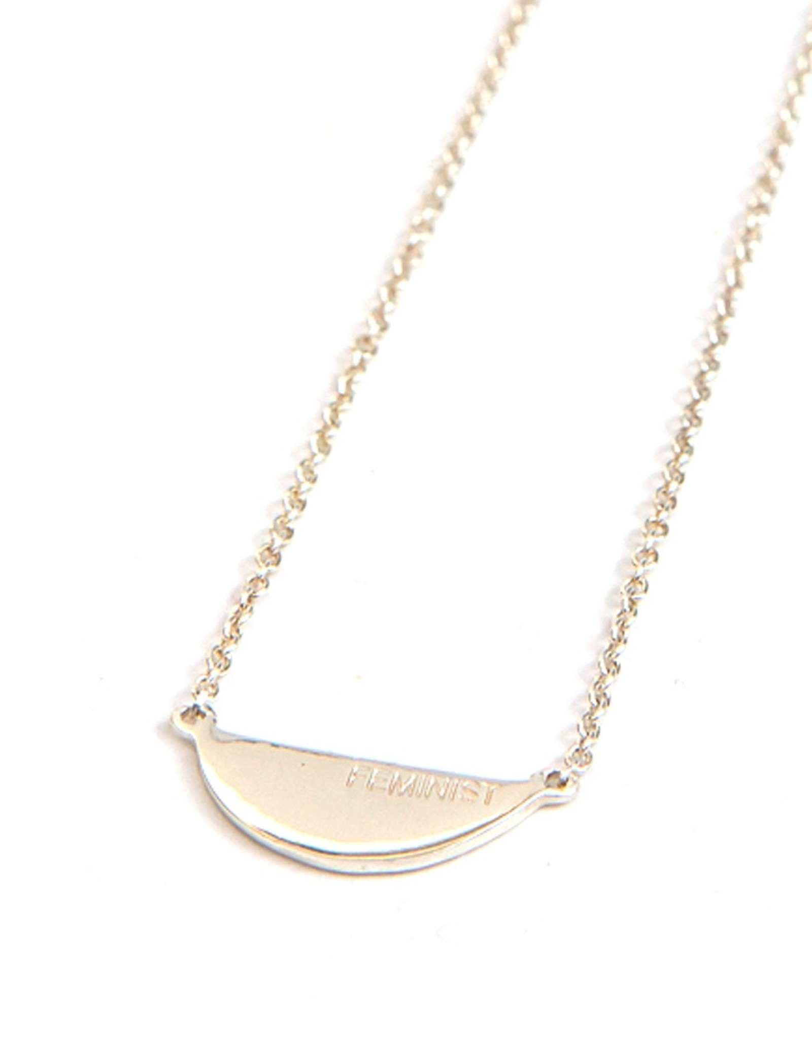 Fair Anita Feminist Necklace- Silver
