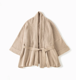 Look by M Shawl Collared Belted Cardigan