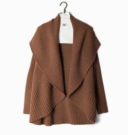Look by M Pleated Shawl Cardigan