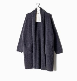 Look by M Boucle Shawl Collar Cardigan