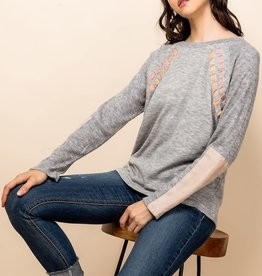 THML Heathered Ribbon Sweater