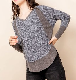THML Heathered Cozy Top