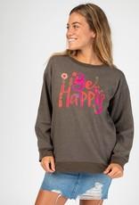 Natural Life Be Happy Pocket Sweatshirt