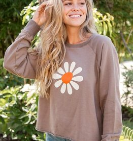 Natural Life Cropped Daisy Sweatshirt