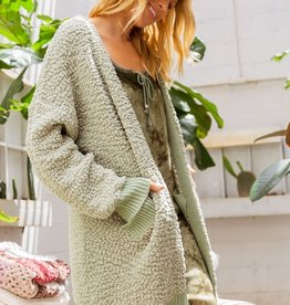 POL Clothing Alpaca Textured Cardigan