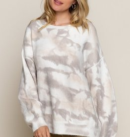 POL Clothing Tie Dye Cloud Sweater