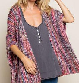Rainbow Kimono Sweater