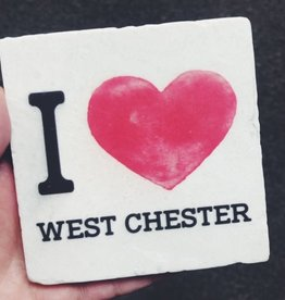 Paisley and Parsley Designs I Heart West Chester Coaster/Tile