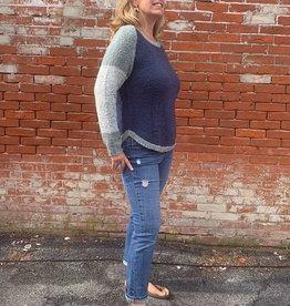 Wind River Raglan Sleeve Boucle Colorblock Sweater