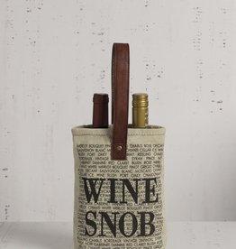 Mona B Upcycled Canvas Double Wine Bag