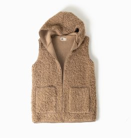 Look by M Fleece Teddy Hoodie Vest
