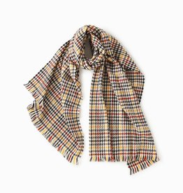 Look by M Multi Plaid Houndstooth Scarf