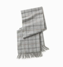 Look by M Grey Plaid Windowpane Scarf