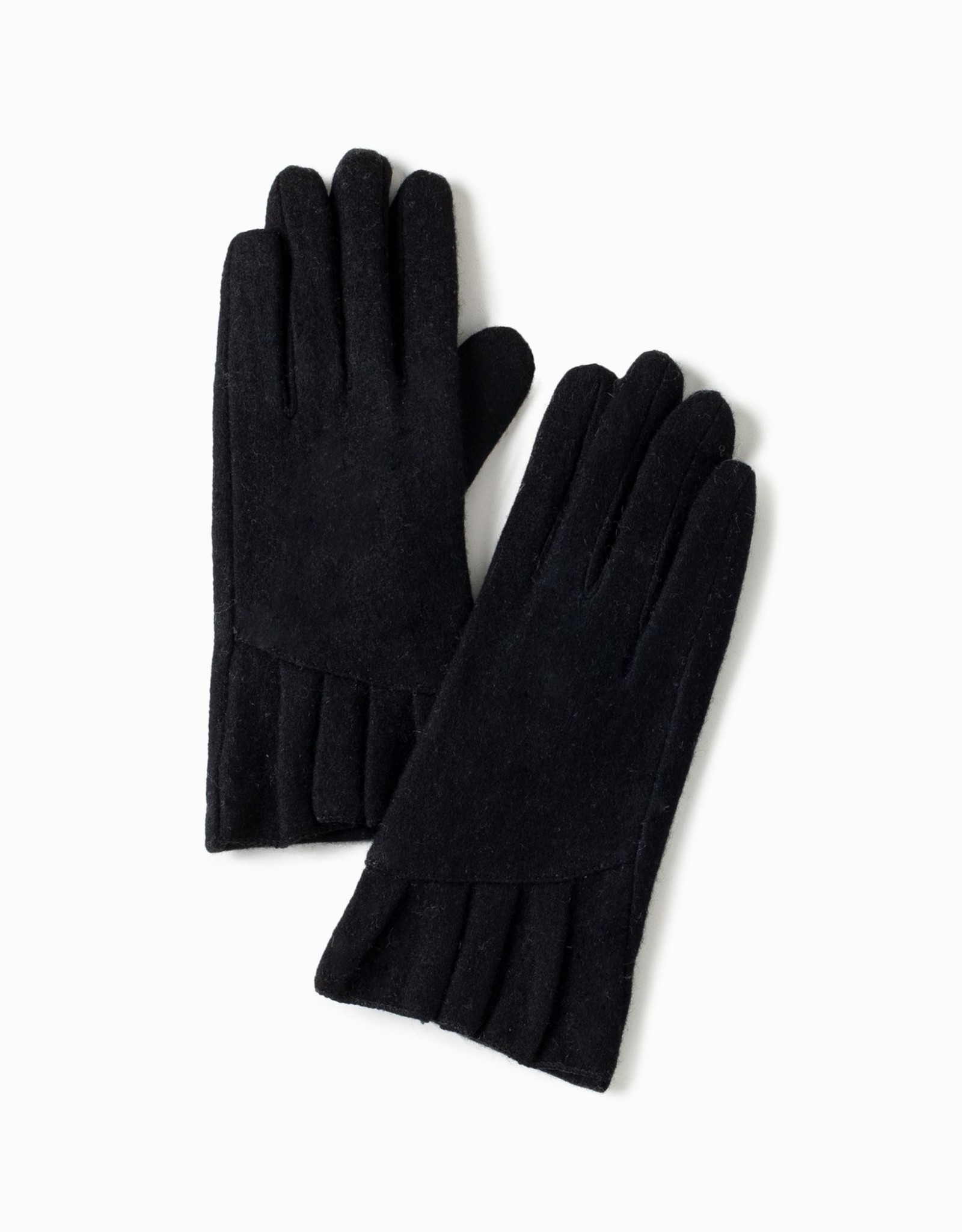 Look by M Pleated Cuff Gloves