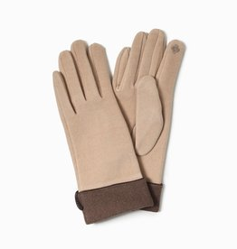 Look by M Two Toned Trimmed Gloves
