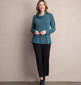 Habitat Pucker Hi Low Cowl Neck Top