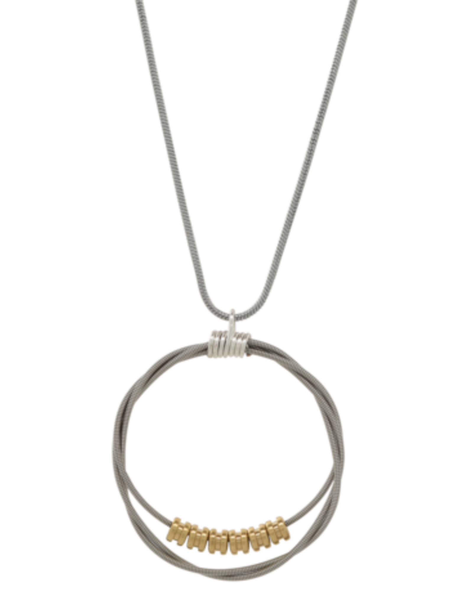 High Strung Studios Song Circle Necklace with Ball End