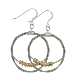 High Strung Studios Song Circle Ball End Hoop Earrings