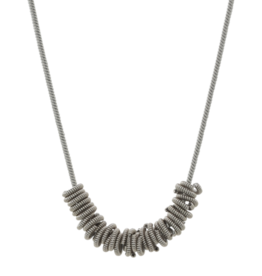 High Strung Studios Silver Staccato Necklace