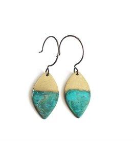 SSD Jewelry Little Rising Tide Leaf Earring