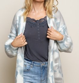 POL Clothing Cloud Tie Dye Cardigan