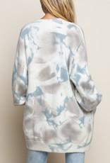 POL Clothing Cloud Tie Dye Cardigan