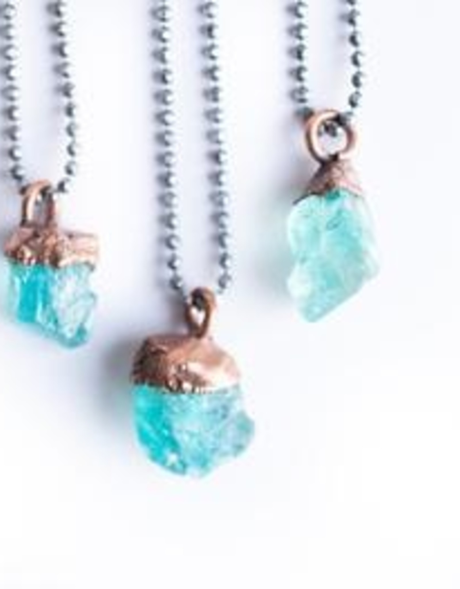Hawk House Raw  Apatite Necklace