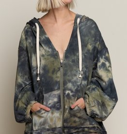 POL Clothing Tie Dye French Terry Hoodie