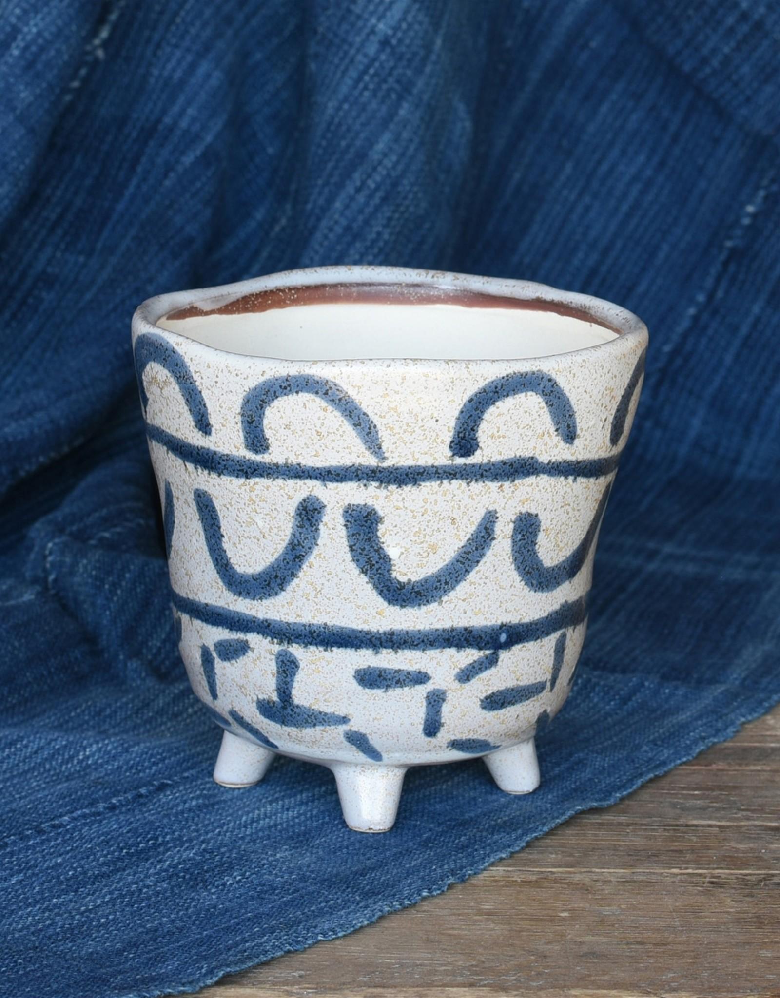 HomArt Granada Painted Footed Bowl - Large