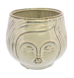 Cream Pucker Up Ceramic Vase