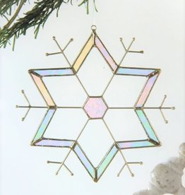 J Devlin Stained Glass Snowflake