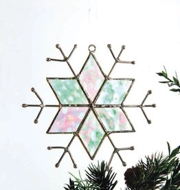 J Devlin Stained Glass Snowflake Ornament