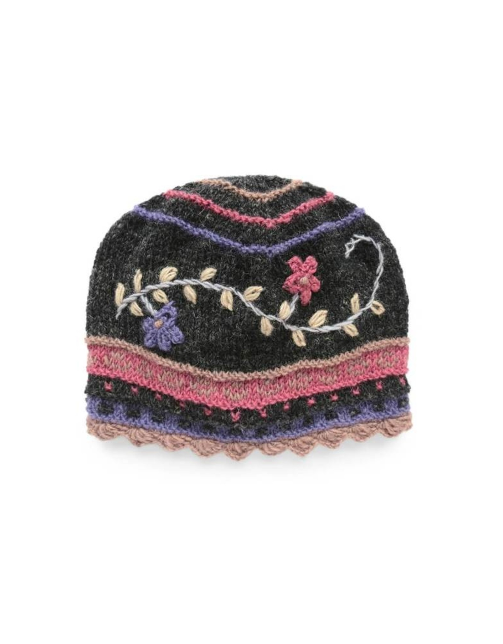 Rising Tide Wool and Fleece Floral Hat